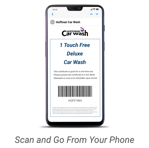 Deluxe Touch Free Wash on Phone